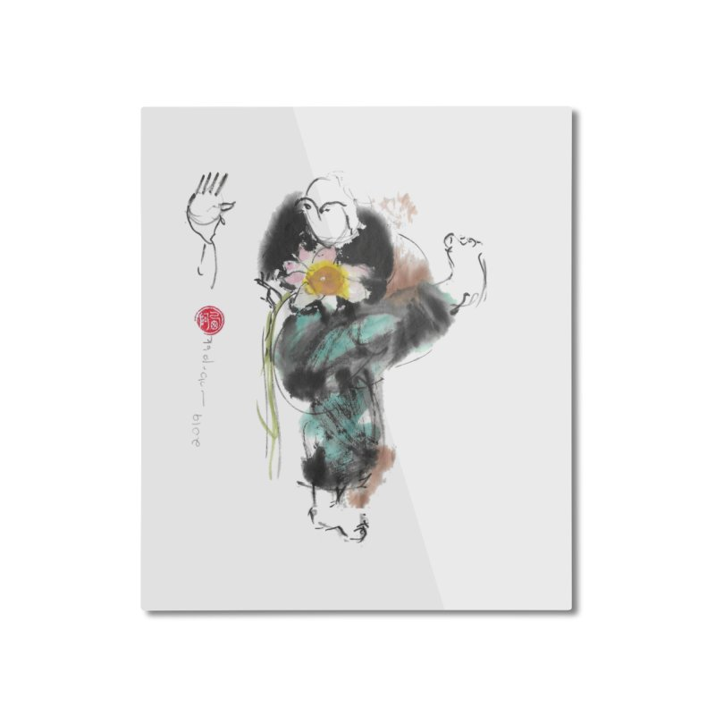 Turn Body And Sweep Lotus With Leg (color version) Home Mounted Aluminum Print by arttaichi's Artist Shop