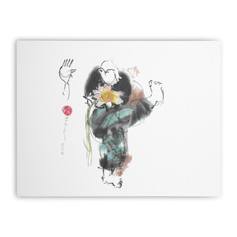 Turn Body And Sweep Lotus With Leg (color version) Home Stretched Canvas by arttaichi's Artist Shop