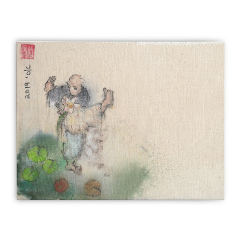Turn Body And Sweep Lotus With Leg Home Stretched Canvas by arttaichi's Artist Shop