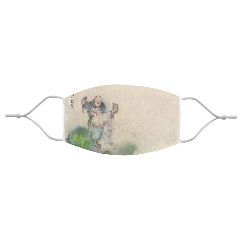 Turn Body And Sweep Lotus With Leg Accessories Face Mask by arttaichi's Artist Shop