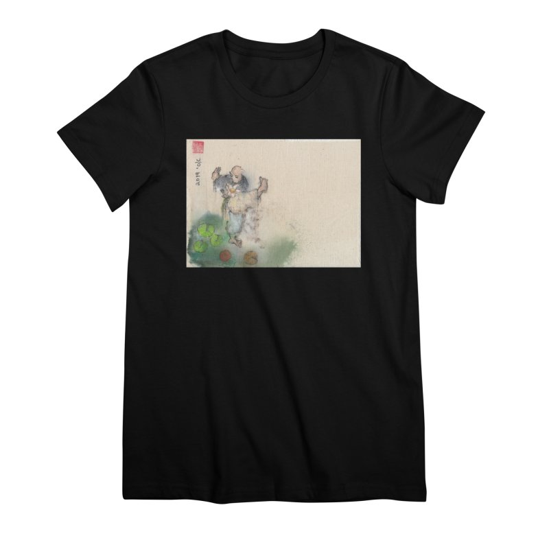 Turn Body And Sweep Lotus With Leg Women's Premium T-Shirt by arttaichi's Artist Shop