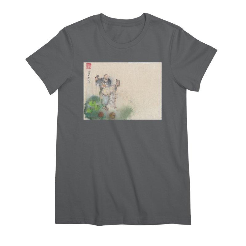 Turn Body And Sweep Lotus With Leg Women's Premium T-Shirt by arttaichi's Artist Shop