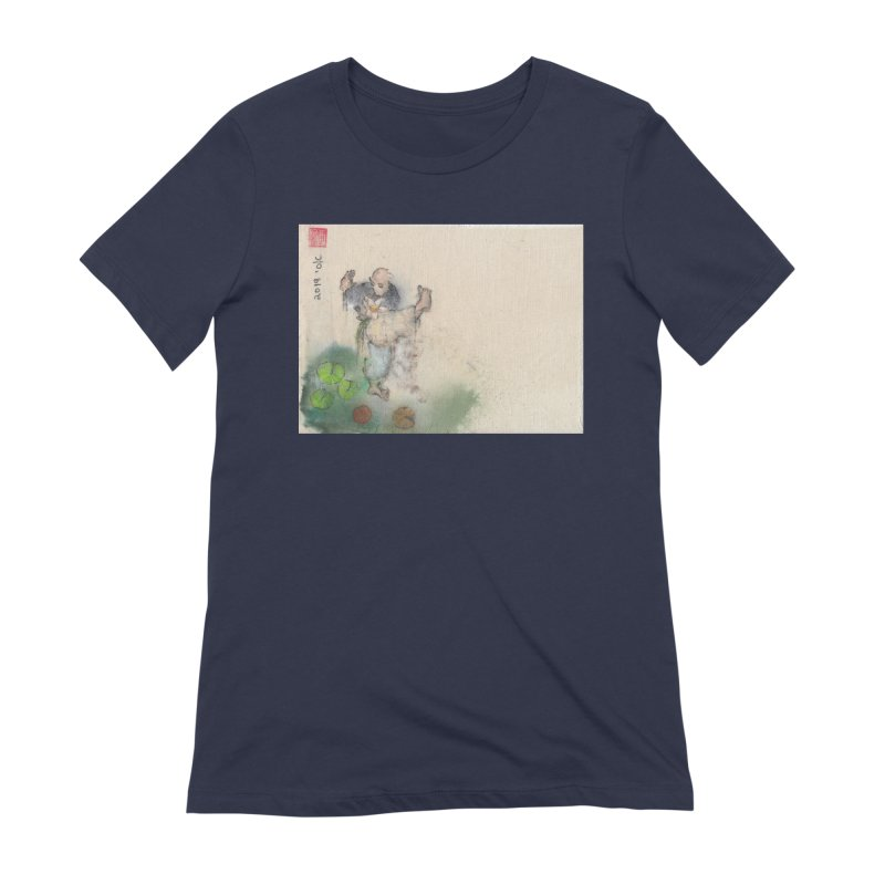 Turn Body And Sweep Lotus With Leg Women's Extra Soft T-Shirt by arttaichi's Artist Shop