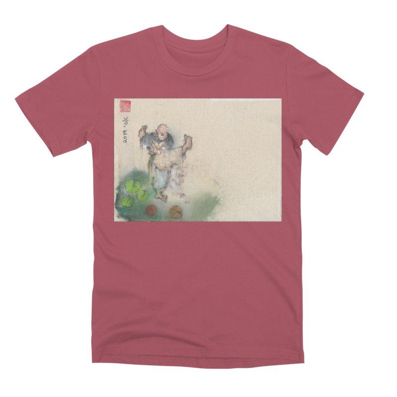 Turn Body And Sweep Lotus With Leg Men's Premium T-Shirt by arttaichi's Artist Shop