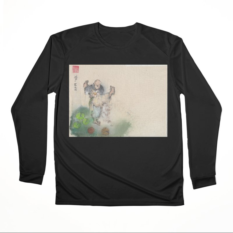 Turn Body And Sweep Lotus With Leg Men's Performance Longsleeve T-Shirt by arttaichi's Artist Shop