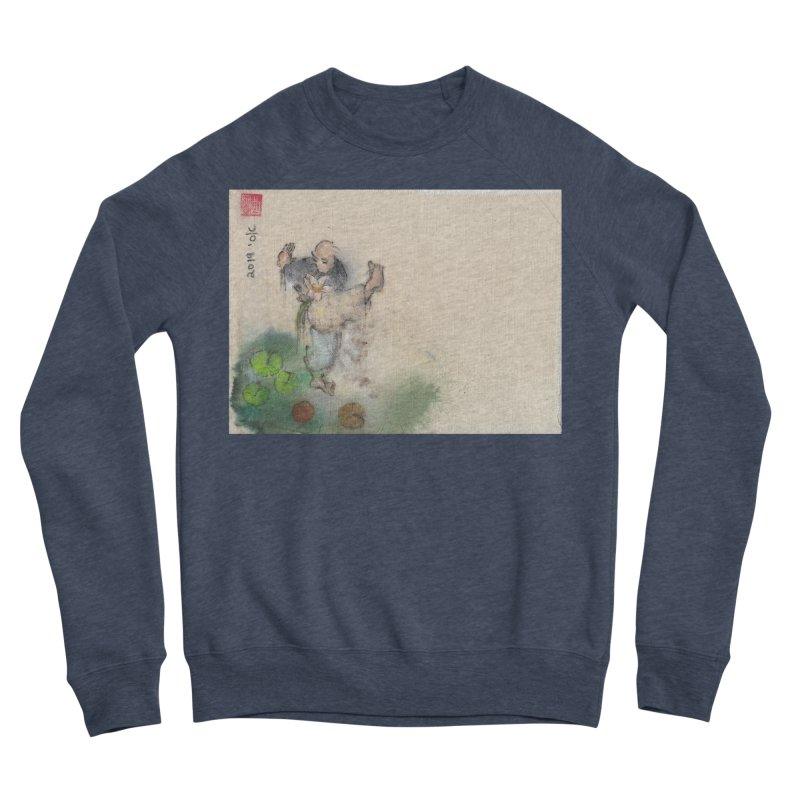 Turn Body And Sweep Lotus With Leg Men's Sponge Fleece Sweatshirt by arttaichi's Artist Shop
