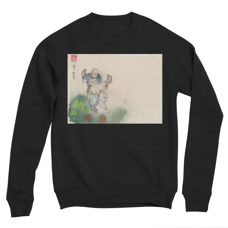 Turn Body And Sweep Lotus With Leg Men's Sponge Fleece Sweatshirt by arttaichi's Artist Shop
