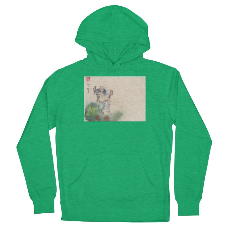 Turn Body And Sweep Lotus With Leg Men's French Terry Pullover Hoody by arttaichi's Artist Shop