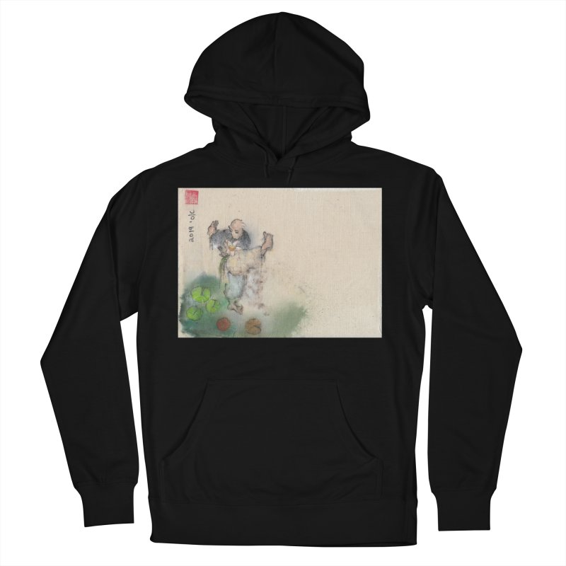 Turn Body And Sweep Lotus With Leg Women's French Terry Pullover Hoody by arttaichi's Artist Shop