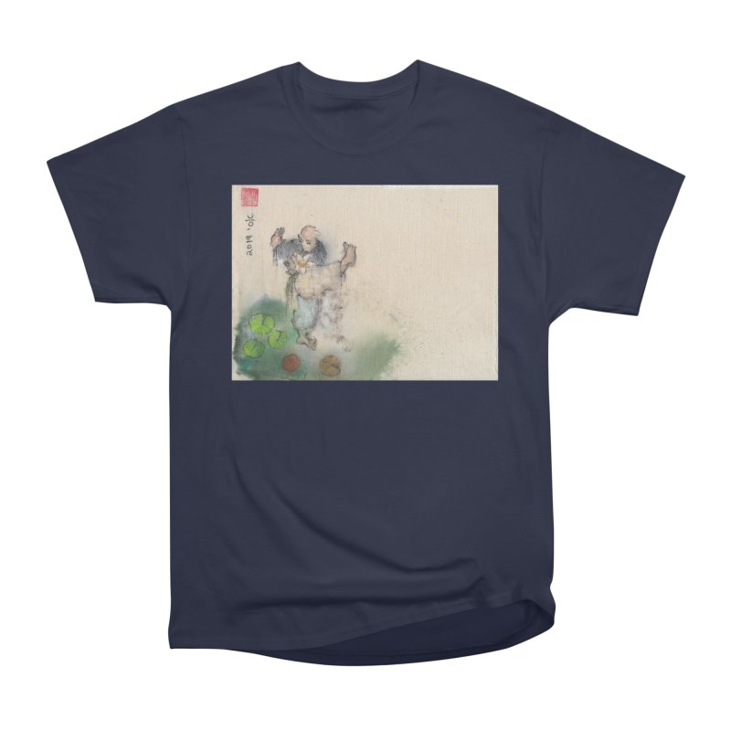 Turn Body And Sweep Lotus With Leg Women's Heavyweight Unisex T-Shirt by arttaichi's Artist Shop