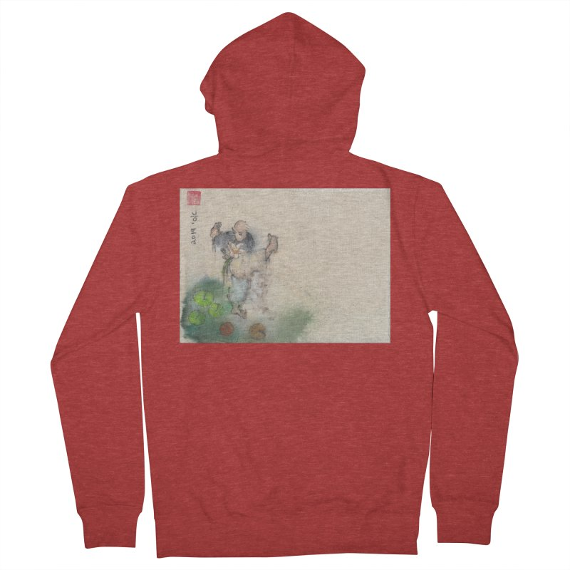 Turn Body And Sweep Lotus With Leg Women's French Terry Zip-Up Hoody by arttaichi's Artist Shop