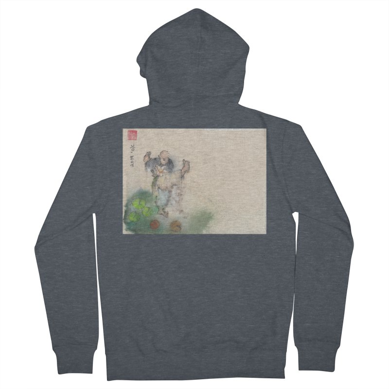 Turn Body And Sweep Lotus With Leg Men's French Terry Zip-Up Hoody by arttaichi's Artist Shop