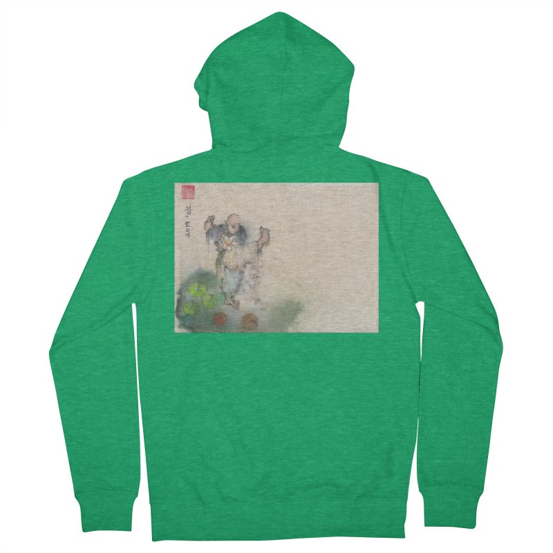 Turn Body And Sweep Lotus With Leg Men's Zip-Up Hoody by arttaichi's Artist Shop