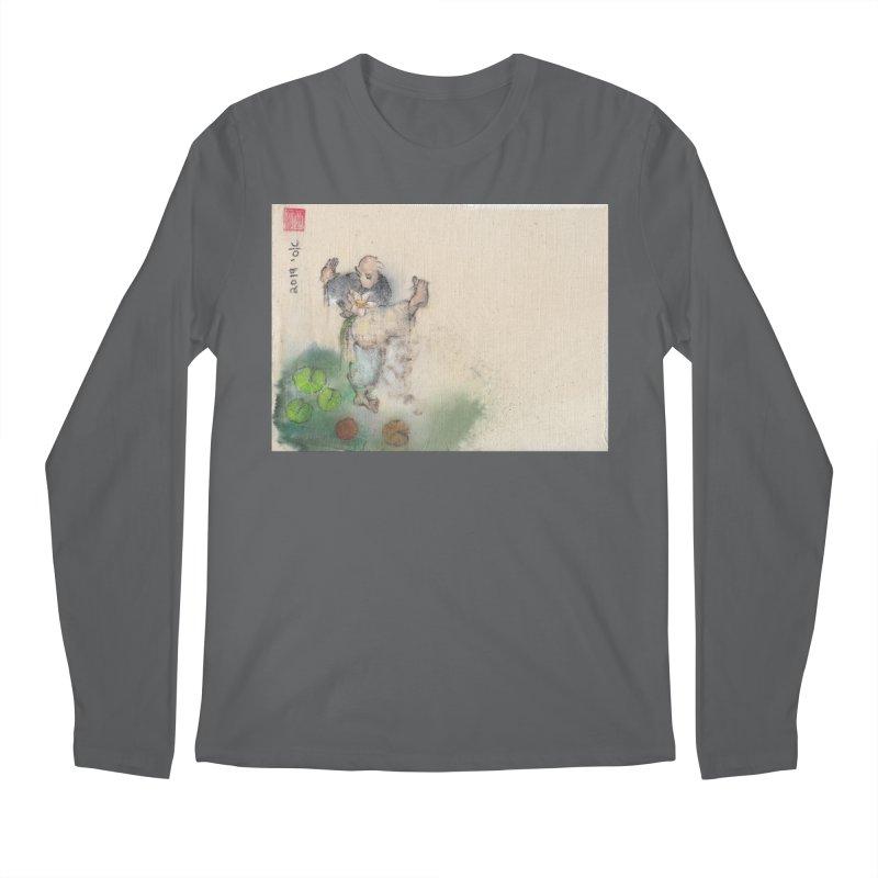 Turn Body And Sweep Lotus With Leg Men's Longsleeve T-Shirt by arttaichi's Artist Shop