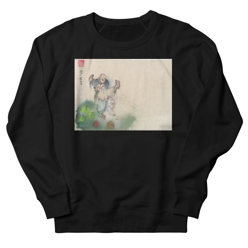 Turn Body And Sweep Lotus With Leg Men's French Terry Sweatshirt by arttaichi's Artist Shop