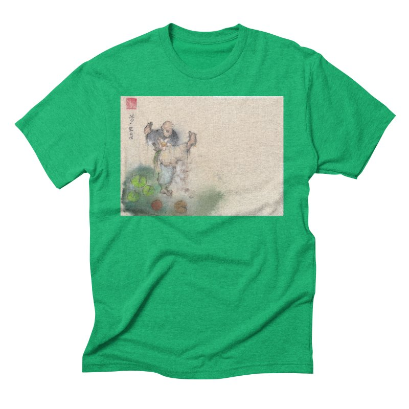 Turn Body And Sweep Lotus With Leg Men's Triblend T-Shirt by arttaichi's Artist Shop