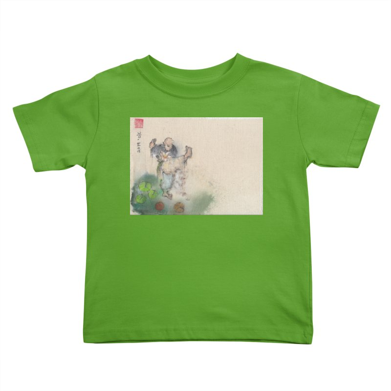 Turn Body And Sweep Lotus With Leg Kids Toddler T-Shirt by arttaichi's Artist Shop