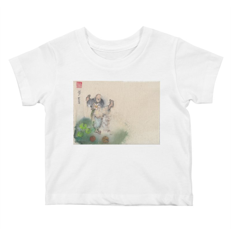 Turn Body And Sweep Lotus With Leg Kids Baby T-Shirt by arttaichi's Artist Shop