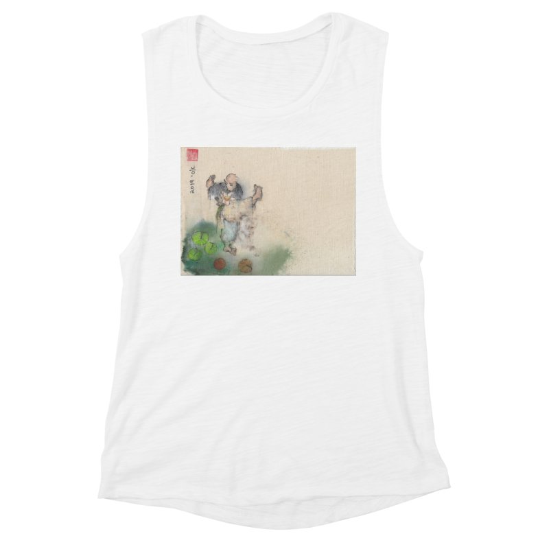 Turn Body And Sweep Lotus With Leg Women's Muscle Tank by arttaichi's Artist Shop