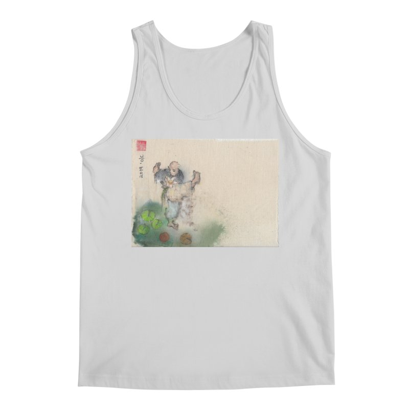 Turn Body And Sweep Lotus With Leg Men's Regular Tank by arttaichi's Artist Shop