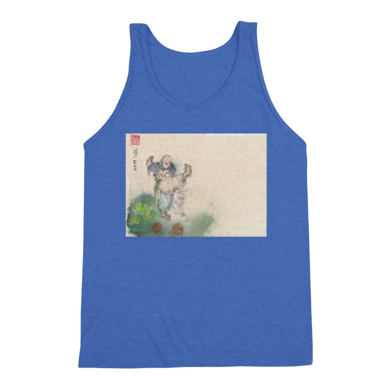 Turn Body And Sweep Lotus With Leg Men's Triblend Tank by arttaichi's Artist Shop