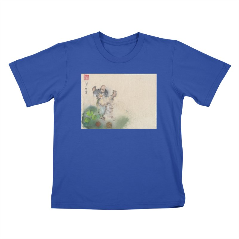 Turn Body And Sweep Lotus With Leg Kids T-Shirt by arttaichi's Artist Shop