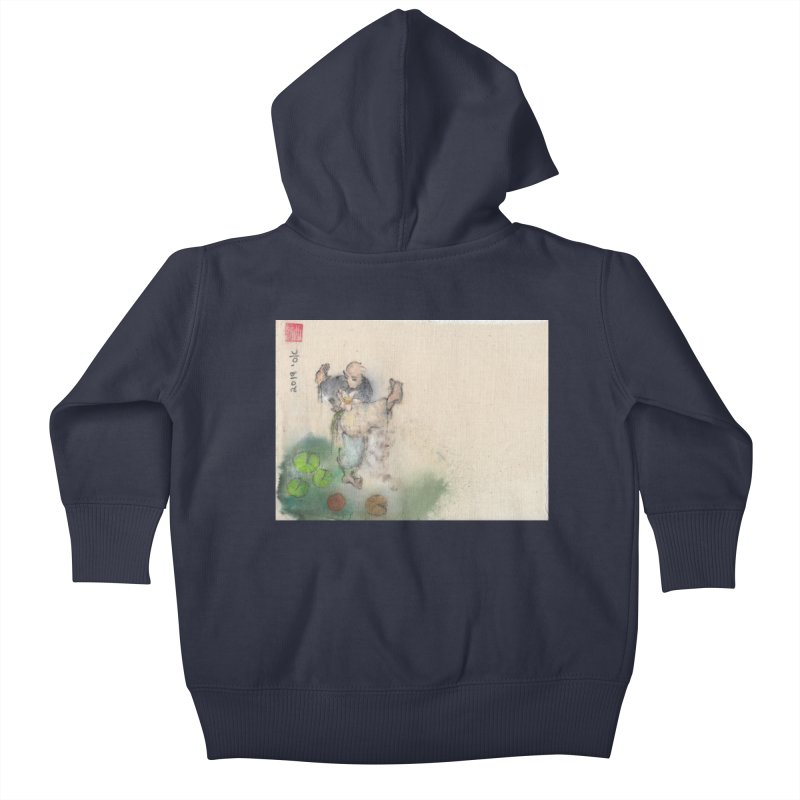 Turn Body And Sweep Lotus With Leg Kids Baby Zip-Up Hoody by arttaichi's Artist Shop