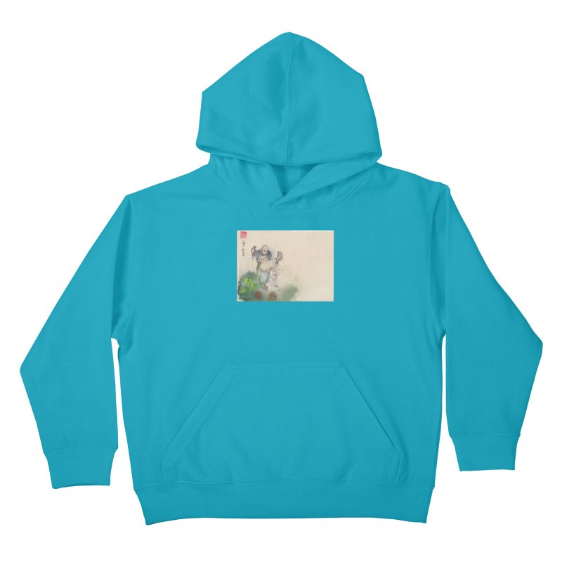 Turn Body And Sweep Lotus With Leg Kids Pullover Hoody by arttaichi's Artist Shop