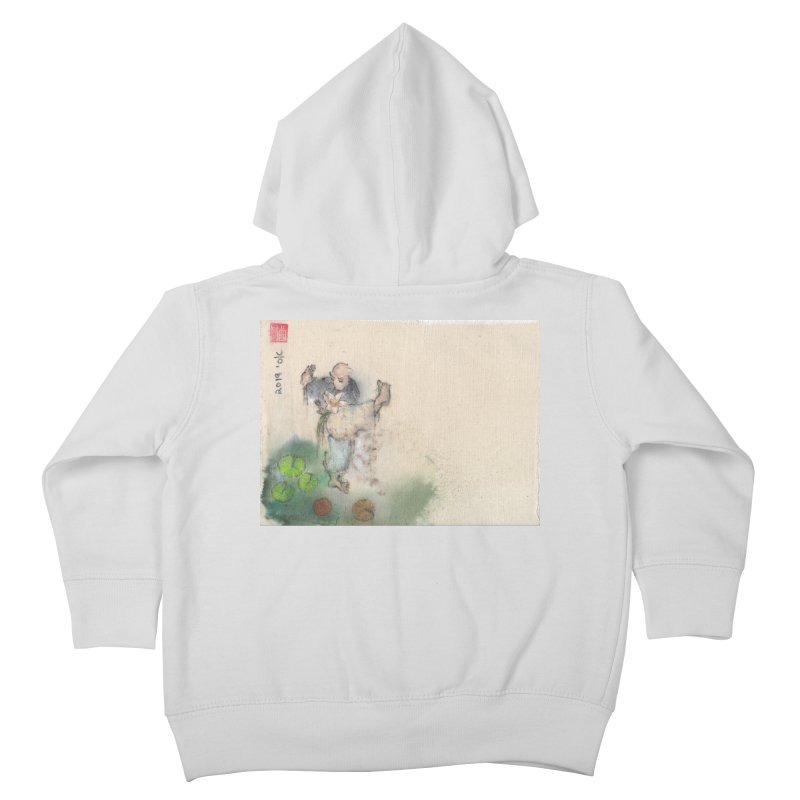 Turn Body And Sweep Lotus With Leg Kids Toddler Zip-Up Hoody by arttaichi's Artist Shop