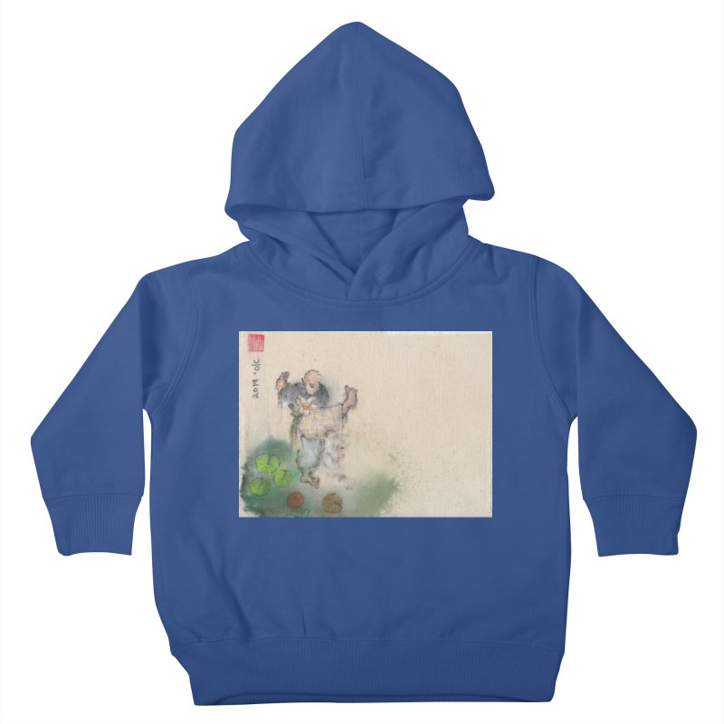 Turn Body And Sweep Lotus With Leg Kids Toddler Pullover Hoody by arttaichi's Artist Shop