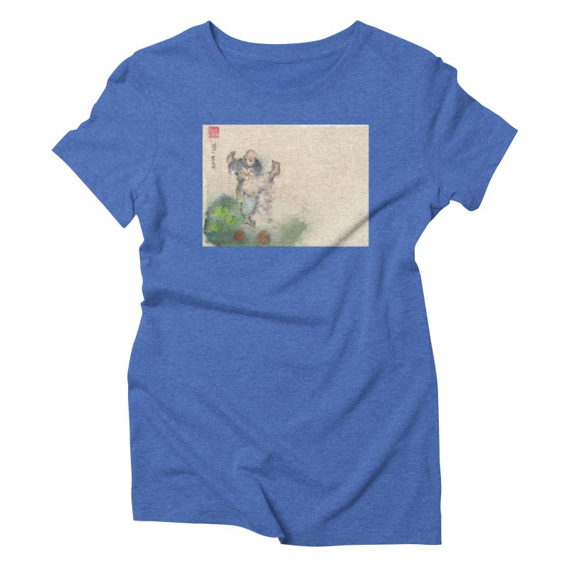 Turn Body And Sweep Lotus With Leg Women's Triblend T-Shirt by arttaichi's Artist Shop
