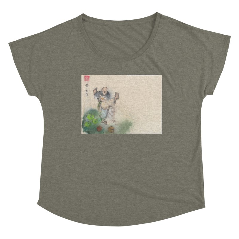 Turn Body And Sweep Lotus With Leg Women's Scoop Neck by arttaichi's Artist Shop