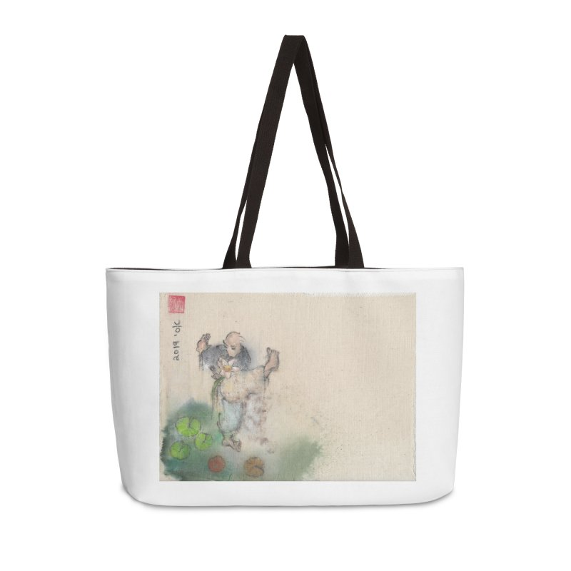 Turn Body And Sweep Lotus With Leg Accessories Weekender Bag Bag by arttaichi's Artist Shop