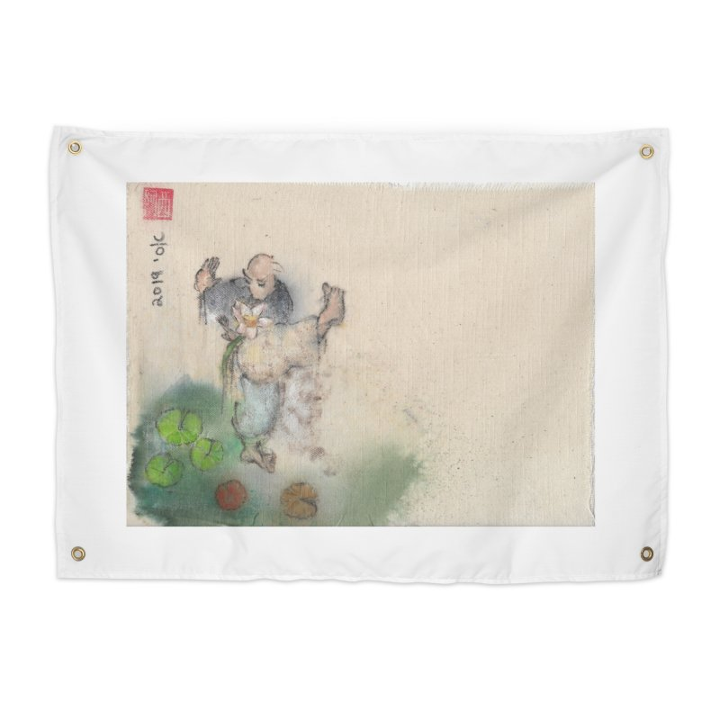 Turn Body And Sweep Lotus With Leg Home Tapestry by arttaichi's Artist Shop