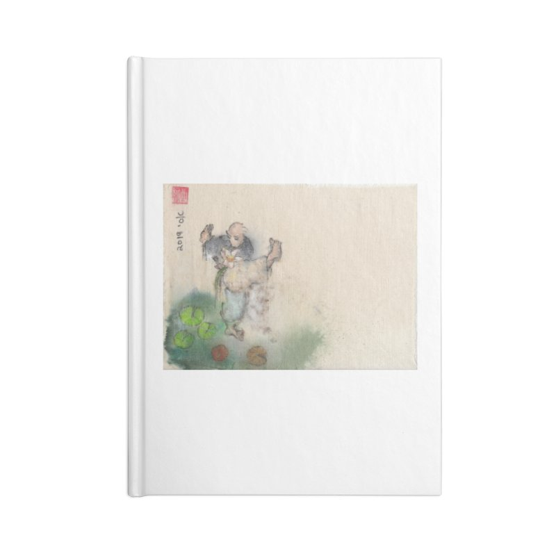 Turn Body And Sweep Lotus With Leg Accessories Lined Journal Notebook by arttaichi's Artist Shop
