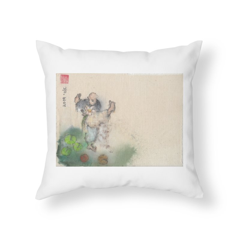 Turn Body And Sweep Lotus With Leg Home Throw Pillow by arttaichi's Artist Shop