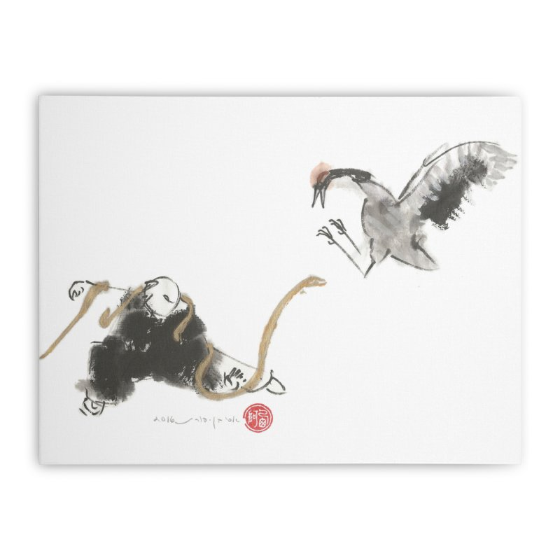 Tai Chi Snake and Crane print Home Stretched Canvas by arttaichi's Artist Shop