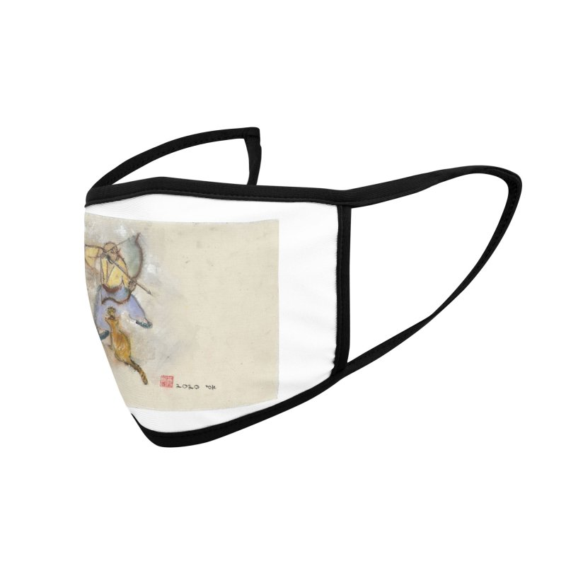 Bend Bow Arrow and a Cat Accessories Face Mask by arttaichi's Artist Shop