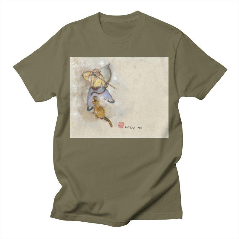 Bend Bow Arrow and a Cat Men's T-Shirt by arttaichi's Artist Shop
