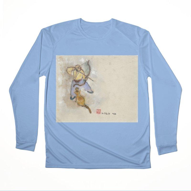 Bend Bow Arrow and a Cat Women's Longsleeve T-Shirt by arttaichi's Artist Shop