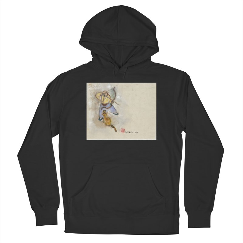 Bend Bow Arrow and a Cat Men's Pullover Hoody by arttaichi's Artist Shop