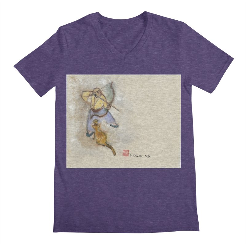 Bend Bow Arrow and a Cat Men's V-Neck by arttaichi's Artist Shop
