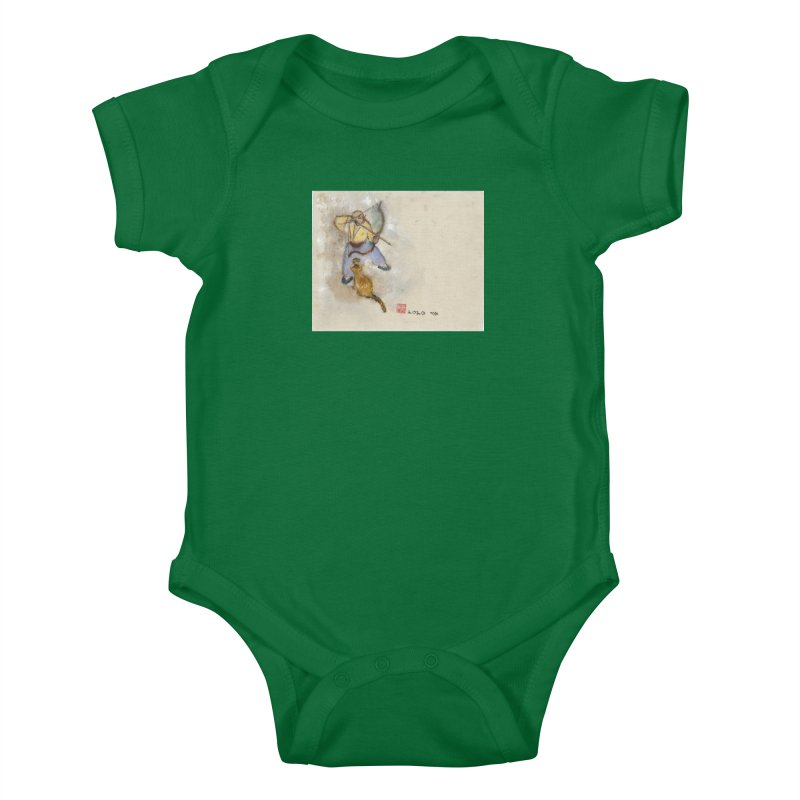Bend Bow Arrow and a Cat Kids Baby Bodysuit by arttaichi's Artist Shop