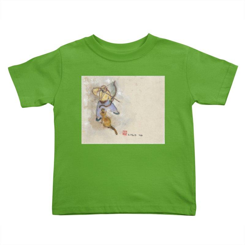 Bend Bow Arrow and a Cat Kids Toddler T-Shirt by arttaichi's Artist Shop