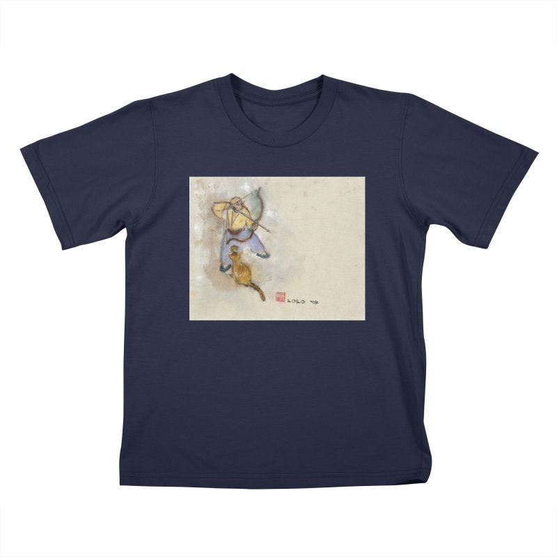 Bend Bow Arrow and a Cat Kids T-Shirt by arttaichi's Artist Shop