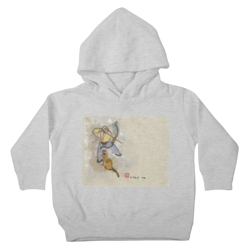 Bend Bow Arrow and a Cat Kids Toddler Pullover Hoody by arttaichi's Artist Shop