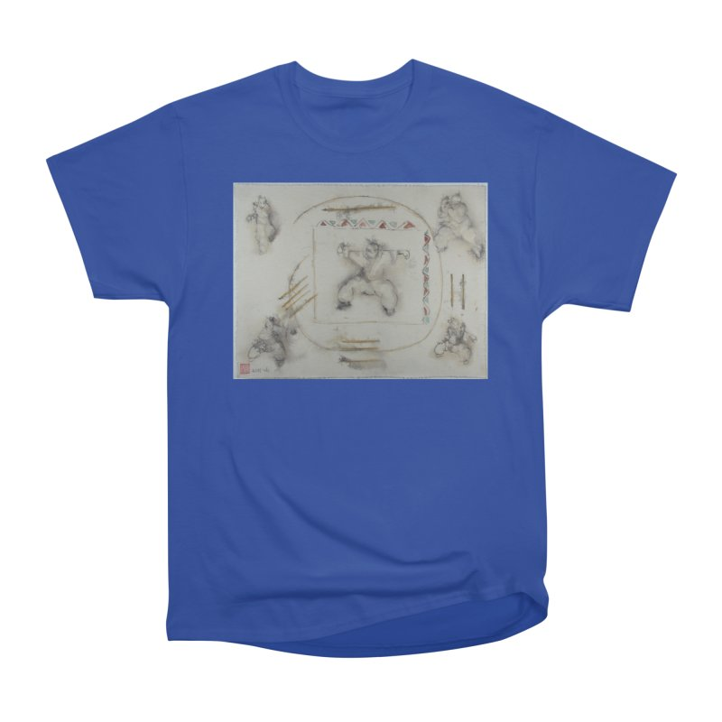 In Transition To Diagonal Posture Men's Heavyweight T-Shirt by arttaichi's Artist Shop