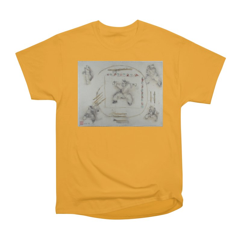 In Transition To Diagonal Posture Men's Heavyweight T-Shirt by arttaichi's Artist Shop