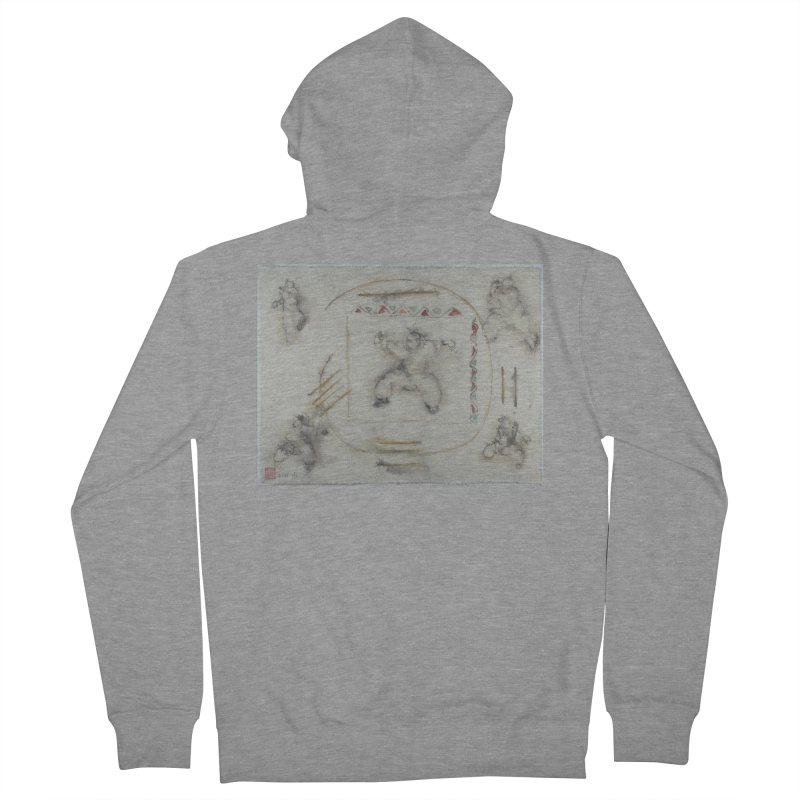 In Transition To Diagonal Posture Women's French Terry Zip-Up Hoody by arttaichi's Artist Shop
