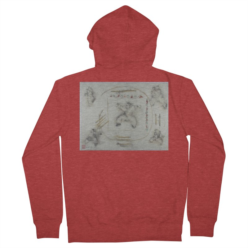 In Transition To Diagonal Posture Men's French Terry Zip-Up Hoody by arttaichi's Artist Shop